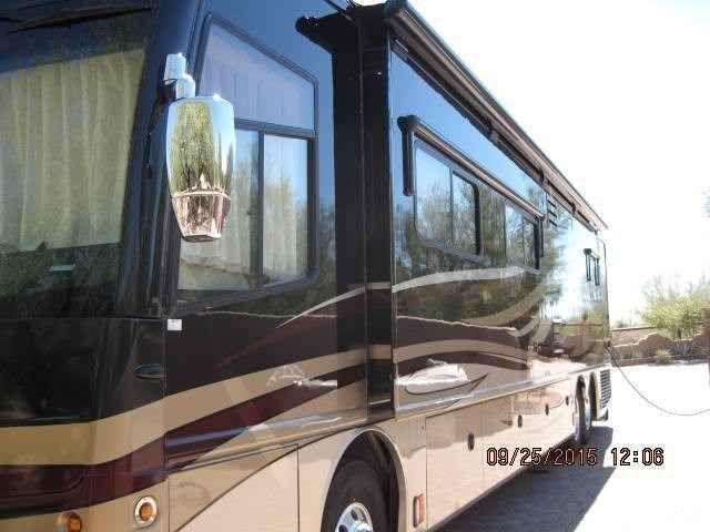 2009 Used American Coach American Allegiance 42g Class A in Arizona AZ.Recreational Vehicle, rv, 2009 American Coach- American Allegiance 42G , (manufactured by Fleetwood's American Coach luxury division) Like new and professionally, lovingly maintained by original owner. This coach has been kept in Arizona and has never seen salt on roads and very little rain.Will be sold with tow system, small BBQ, tools, travel air compressor, vehicle tow bar, portable furniture and other items needed for…