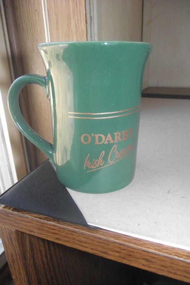 O Darby Irish Cream Green Coffee Mug Decorative Collectible Cup Stripe Very Nice