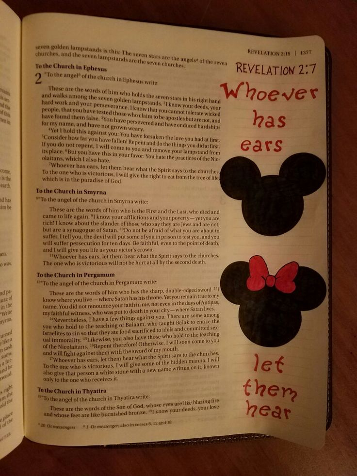 Terra Ragan: Bible Journal - Revelation 2:7 Mickey  Disney