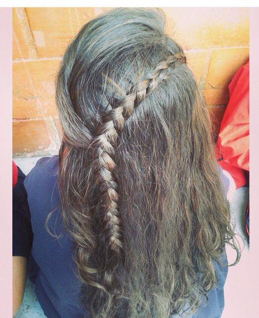 Trenza perfecta para tener el cabello suelto!!