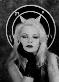 Church of Satan founder Anton Lavey's daughter. A fashion icon.