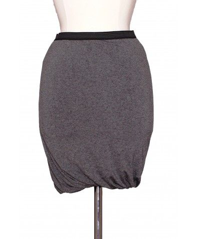 Chic and cool skirt – has elasticated band in the waist. Fabric runs all the way as one piece and the trim is also elasticated. Tight around the hips; Our stylist's tip: Pair with black leggings or tights, big sweater or loose fit top and mid-calf boots for the ultimate downtown girl look.