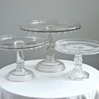 Jeni Sandberg   Barking Sands Vintage: Vintage Wedding Cake Stands    Victorian Glass, Milk Amazing Design