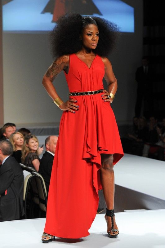 Jully Black wearing Lauren Bagliore - The Heart Truth Canada