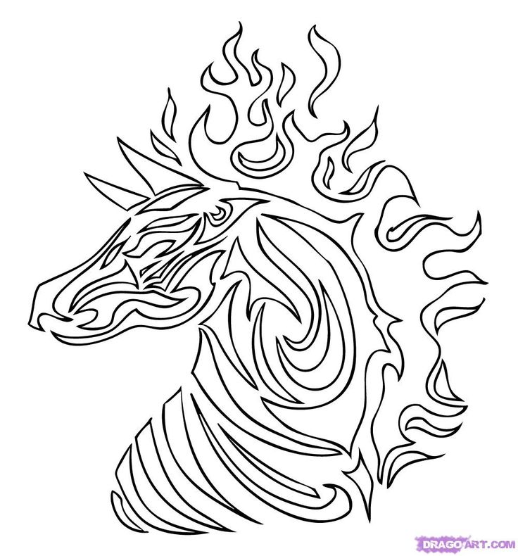 tribal animal coloring pages - photo#7