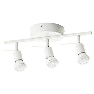 IKEA(イケア) TROSS 00262662 シーリングトラック スポットライト3個, ホワイト(電球別売)