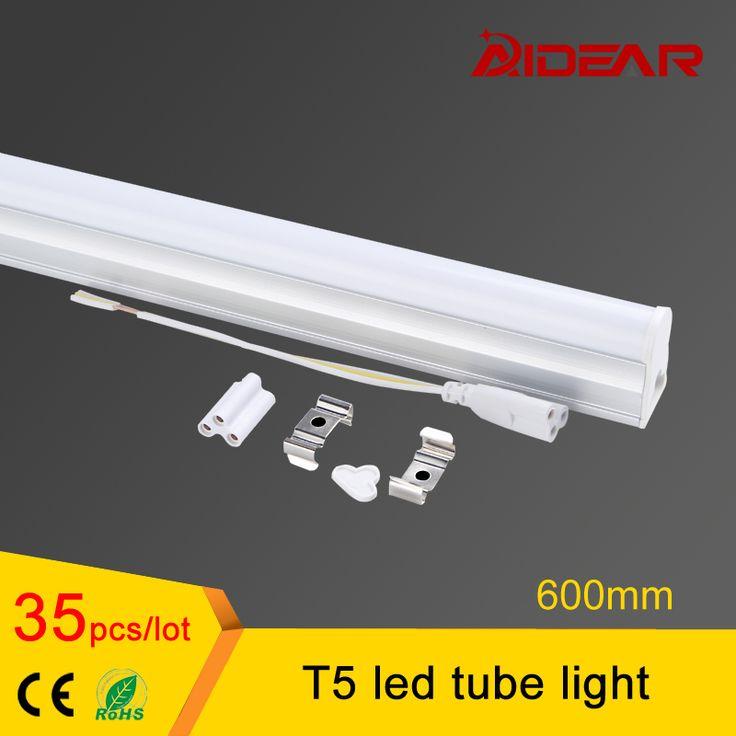 Promotion t5 light fixtures 600mm AC85-265V LED Fluorescent Tube LED T5 Tube Lamps 10W Cold White Light #Affiliate
