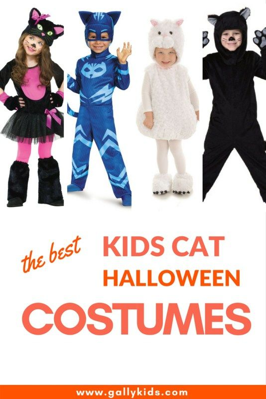 Five of the best halloween costumes for kids: black cat, white cat, kitty cat, kwazii cat or catboy. The best list.