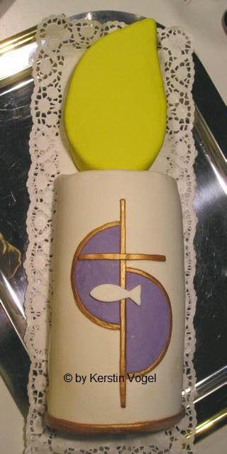 Kerstins Kuchen Kreationen: Konfirmation- /Kommunionstorte in Kerzenform