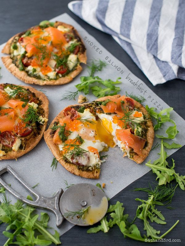 Smoked Salmon Breakfast Pizzas | 18 Breakfast Pizzas That Want To Wake Up Next To You