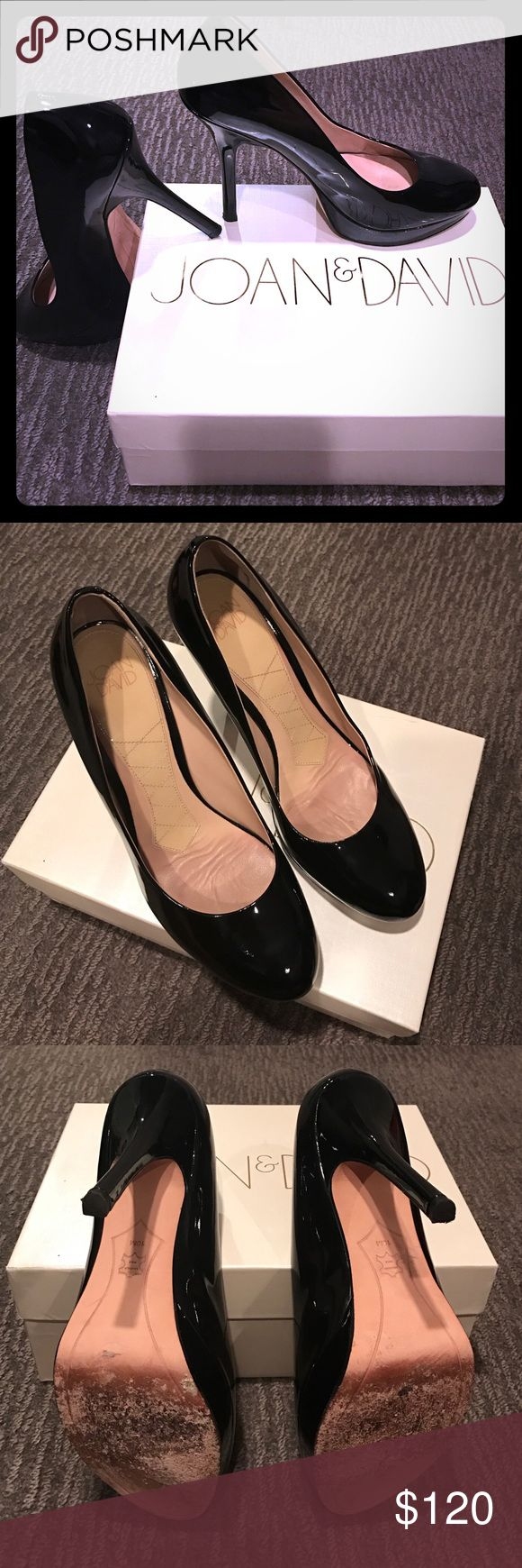 """Joan & David place patent pumps Gorgeous black patent leather platform pumps with 4"""" heels. Like new- only sign of wear is on soles (see pix) Joan & David Shoes Heels"""