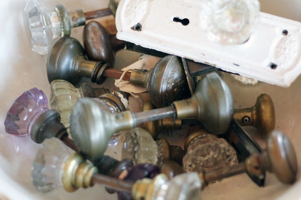 I know it's weird, but I love old door knobs