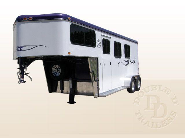 Double D Trailers, Kinston, North Carolina  2 Horse Gooseneck Trailer For Sale