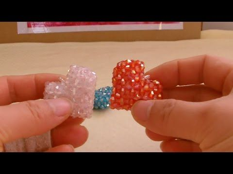How to bead funny acceceroy: heart-shaped(pattern 3) 1/2 - YouTube