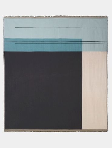 Colour Block Bed Cover - Dusty Blue