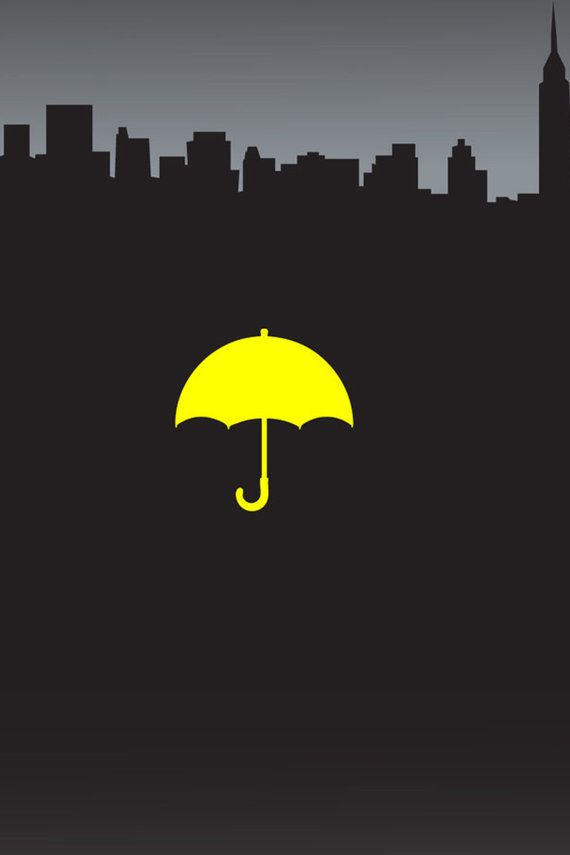 Yellow Umbrella Poster 12x18 How I met your mother by DecalHunterz
