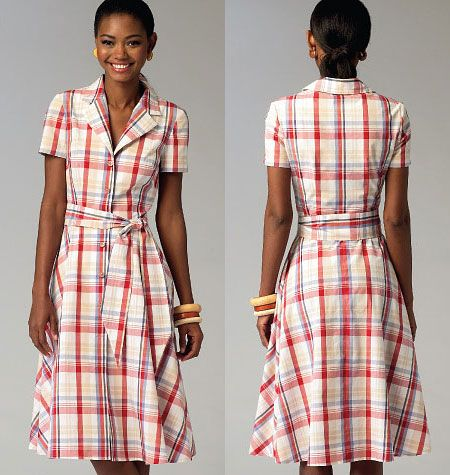 Misses Dresses and Sash McCalls Pattern 6891. | Sew Essential