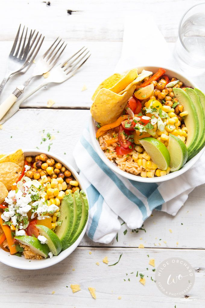 Spicy Chickpea Burrito Bowls |A healthy burrito bowl ready in 30 minutes. What are you waiting for? | www.wildeorchard.co.uk