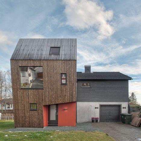 Trä på taket Arne Garborgsveg 18 house extension by TYIN tegnestue Architects