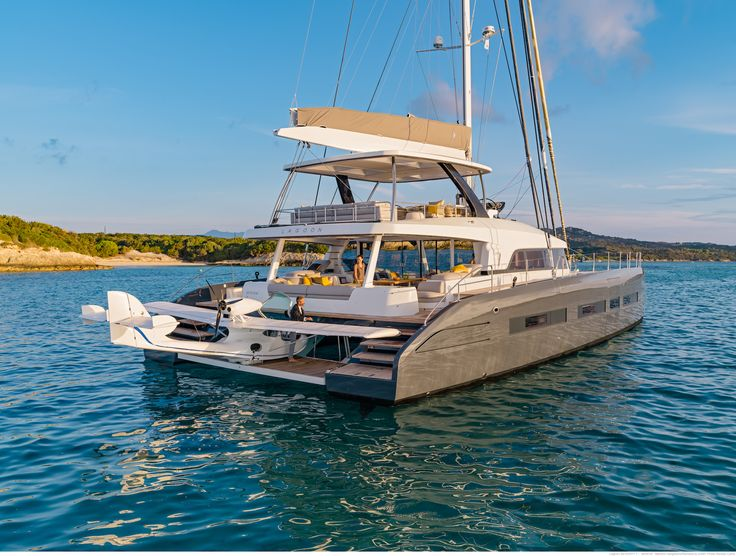 The Lagoon Seventy 7 Is A Luxurious Catamaran Designed By VPLV Patrick Le Quement And Nauta Design Interior Owner Has Private Beach Club