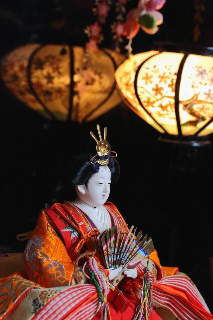 Japanese Hina doll お雛様- display on March 3rd celebrating Japanese Girl's Day