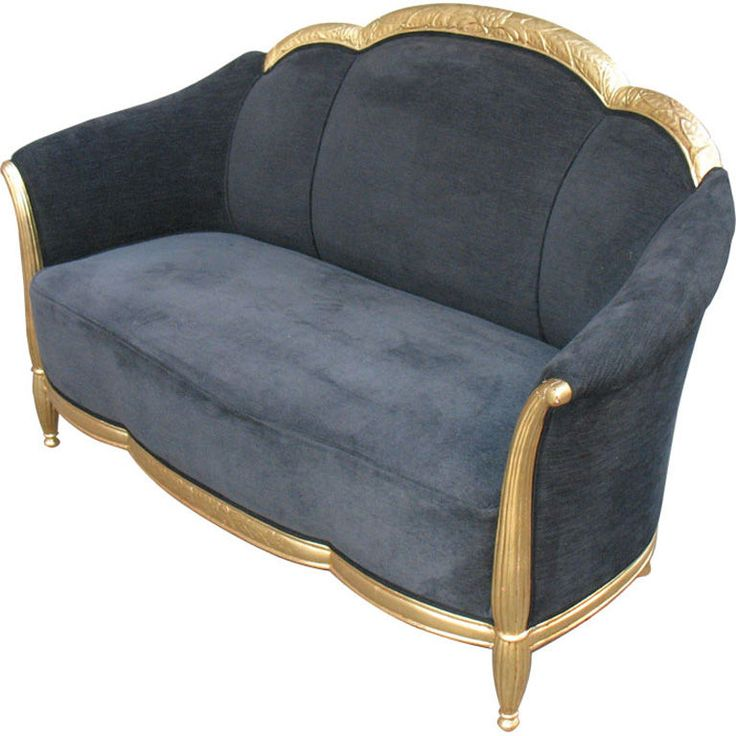 Art Deco Settee in the Manner of Blanche - J. Klotz   From a unique collection of antique and modern settees at http://www.1stdibs.com/furniture/seating/settees/