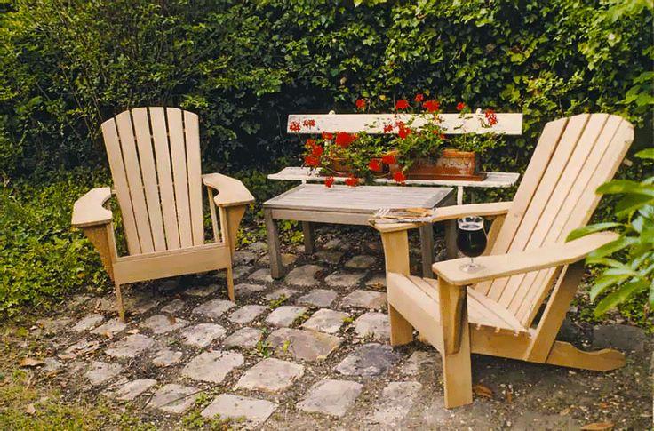 Duo d'adirondack publié dans Le Bouvet n°137. http://www.blb-bois.com/les-revues/le-bouvet/137-plan-fauteuil-adirondack-fileter-sur-le-tour-assemblage-mobilier