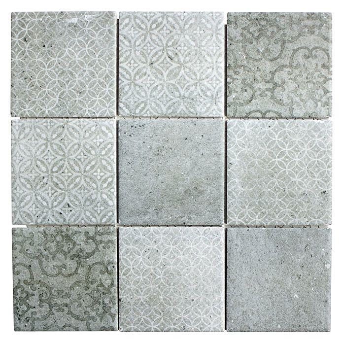 Mosaikfliese Quadrat Shabby Cello 29 8 X 29 8 Cm Grau Matt Mosaikfliesen Schabby Schick Haus Fliesen