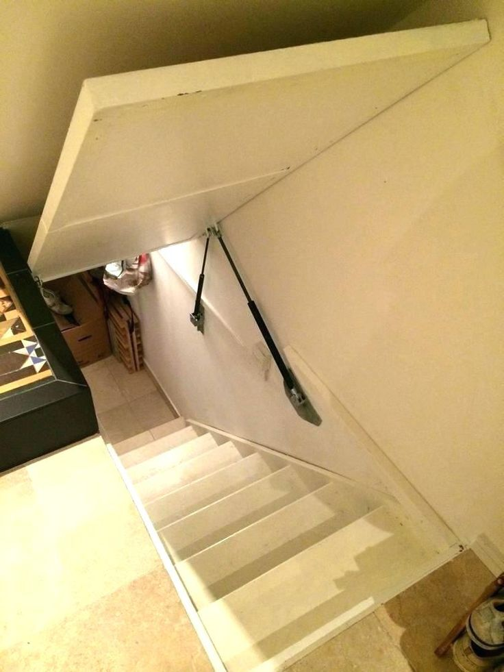 Image result for gas struts trap door Loft door, Trap