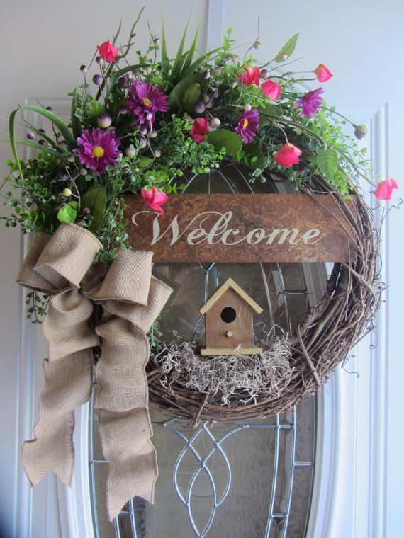 25 Best Ideas About Welcome Wreath On Pinterest Front