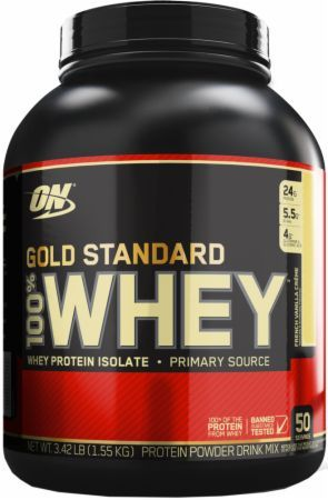 Optimum Nutrition Gold Standard 100% Whey French Vanilla Creme 3.5 Lbs. - 50 Servings OPT2780022 French Vanilla Creme - 24g of Whey Protein with Amino Acids for Muscle Recovery and Growth*