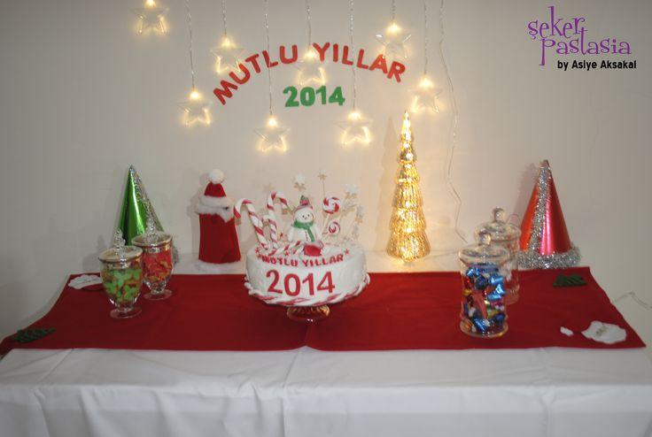 Yeni yıl partisi süsleme
