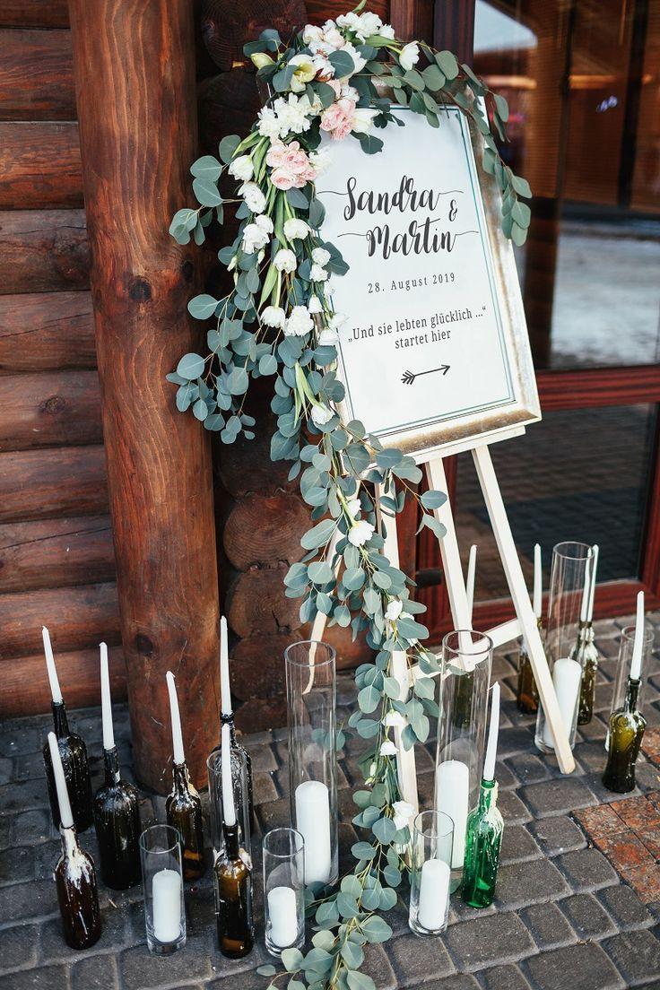 30 kreative Willkommensschilder für die Hochzeit