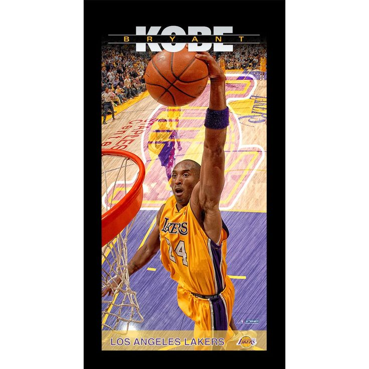 Kobe Bryant Los Angeles Lakers Player Profile Wall Art 9.5x19 Framed Photo - Celebrate one of the most exciting players in the League with this Steiner original Framed 10x20 wall art piece. This framed piece is officially licensed by the NBA. It measures 10 x 20 and is ready to hang in any home or office. Gifts > Licensed Gifts > Nba > Los Angeles Lakers. Weight: 1.00