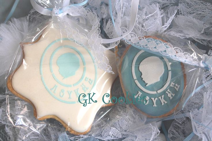 Cameo stenciles personalized cookies!