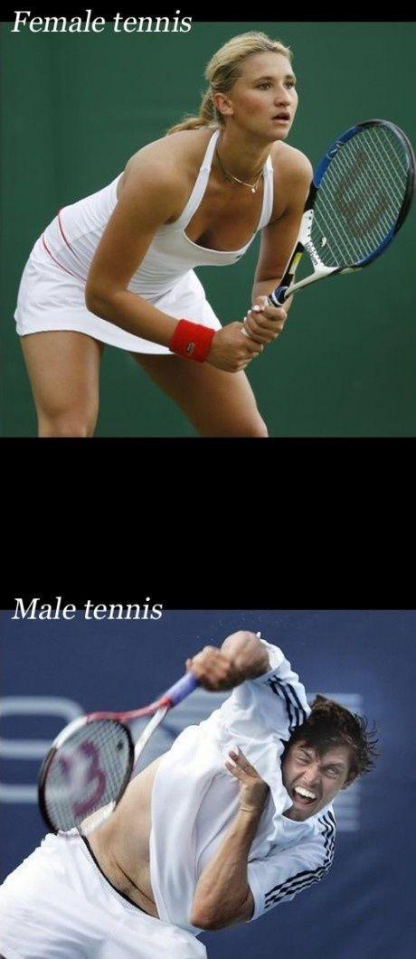 Kvinde tennis vs Male tennis