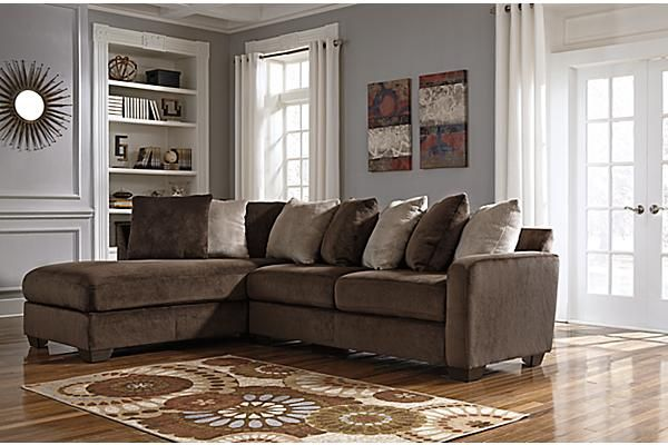1000 ideas about chocolate brown couch on pinterest for Ashley microfiber sectional with chaise