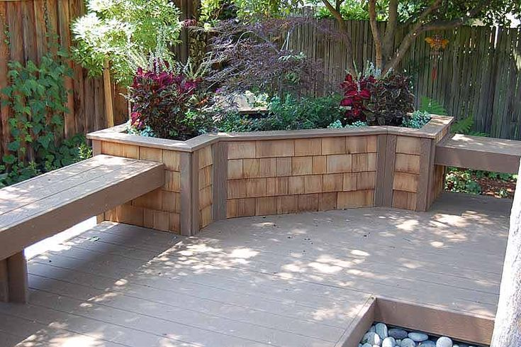 36 best images about house built in planter boxes on for Deck garden box designs