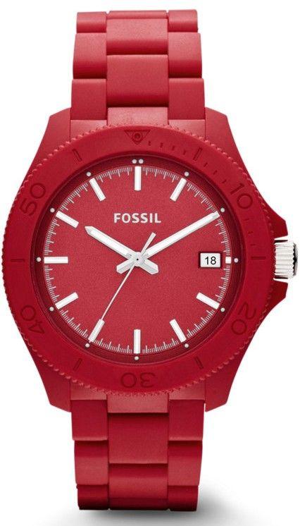 Fossil Watches, Men's Retro Traveler Three Hand Resin Watch - Red #AM4450