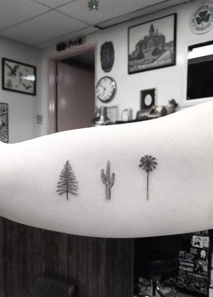 by Dr Woo  Tattoo / Palm / Cactus / Tree