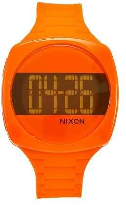 Nixon Women's A168877 Dash Orange Rubber Orange dial Watch#affiliate