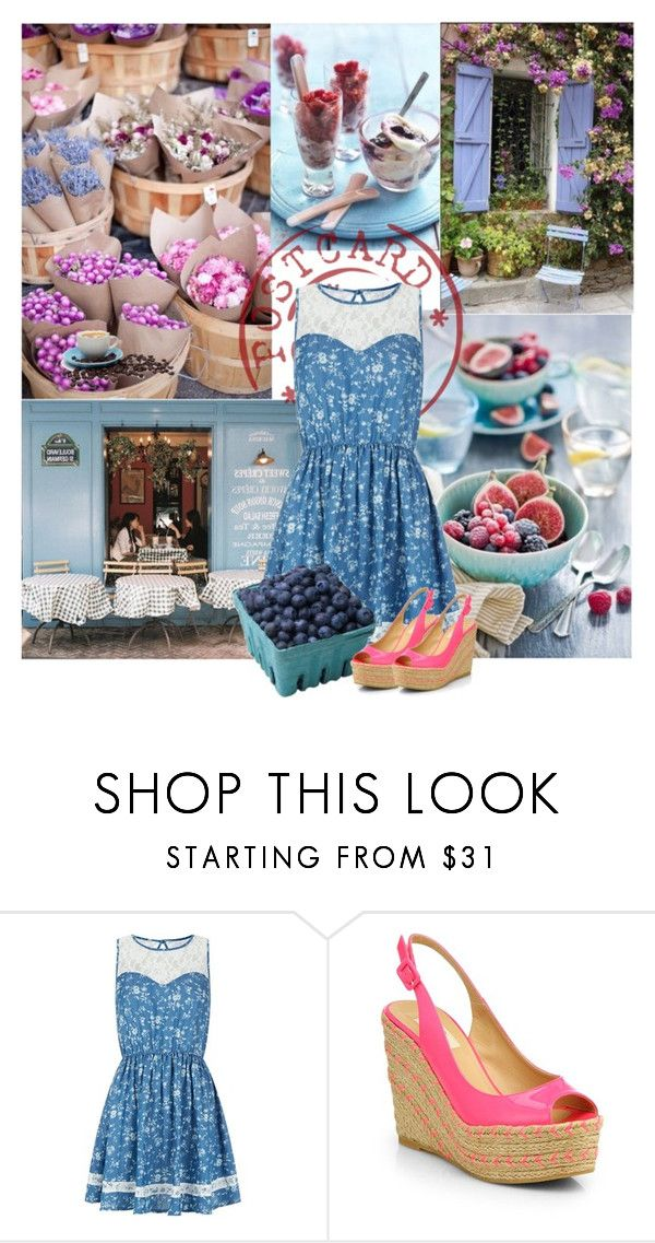 """""""Sunday Local Market"""" by marina-volaric ❤ liked on Polyvore featuring Parisian, Valentino, Wedges, farmersmarket and basketberry"""