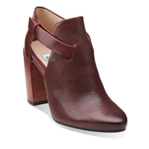 Crumble Sugar Wine Intrest Leather - Clarks Womens Shoes - Womens Heels and Flats - Clarks - Clarks