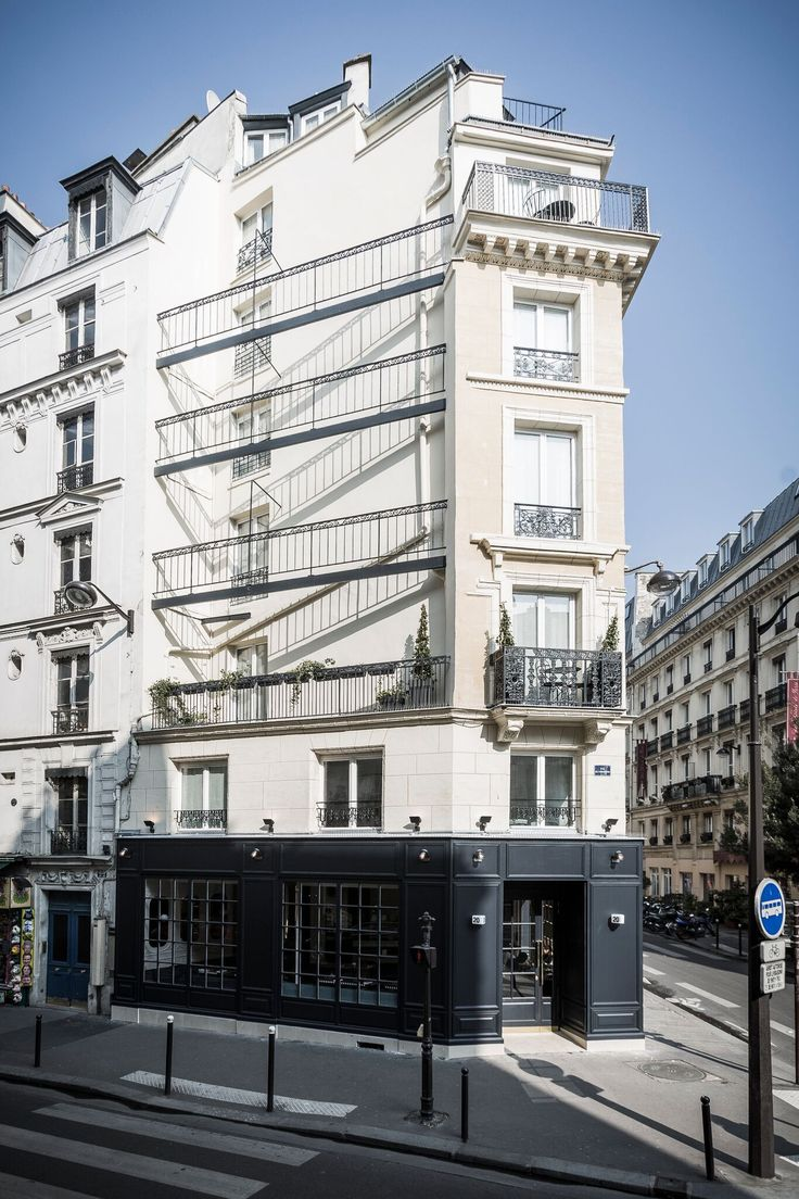 Hotel Panache Design Hotel Paris Corner Building Flatiron-Shaped Building