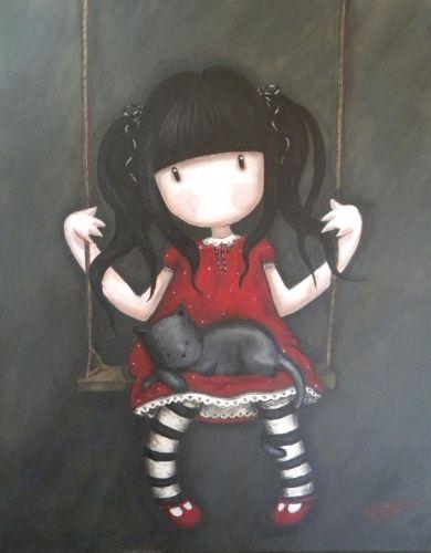 petite fille sur balançoire 2