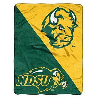 Northwest Company NCAA® North Dakota State University Bison Halftone Micro Raschel Throw