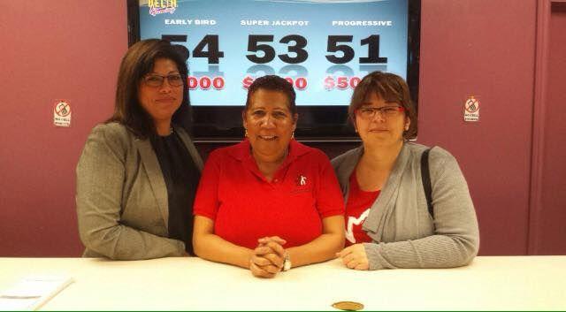 Catherine, Gloria, & Pia at TCOR bingo Saturday! This was Catherine and Pia's first time volunteering at bingo!