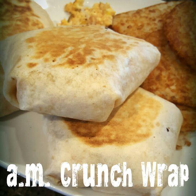 Lou Lou Girls : Taco Bell Inspired a.m. Crunch Wrap Copycat
