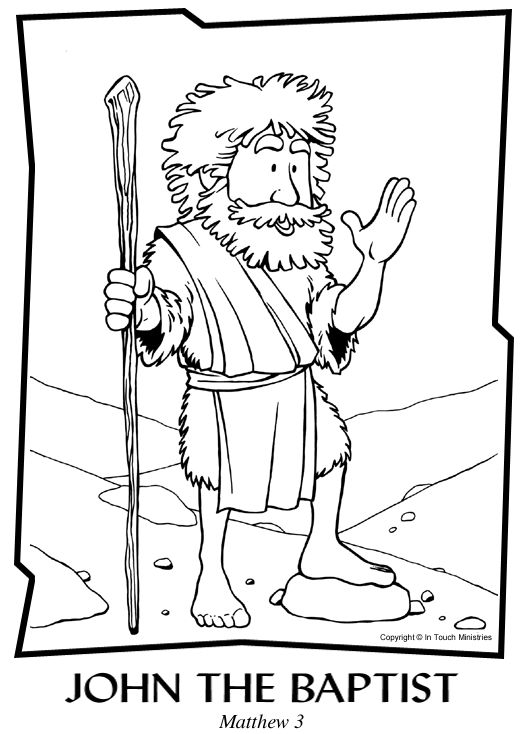 78 Best Ideas About John The Baptist On Pinterest Kids Coloring Pages The Baptist