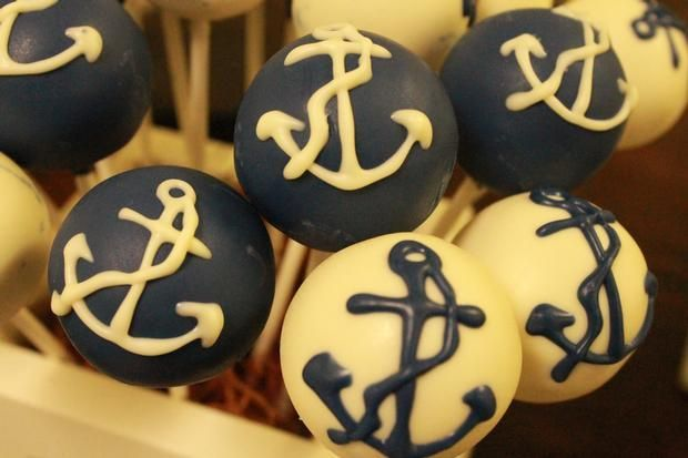 Nautical cake pops #cakepops #nautical